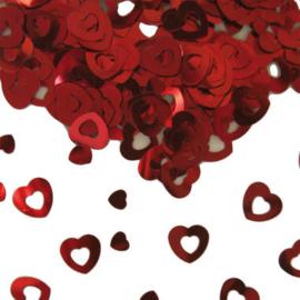 tafel confetti rode hartjes