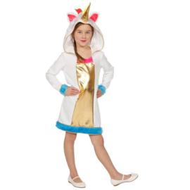 Eenhoorn, maat 104. Kostuum bestaat uit: jurkje.