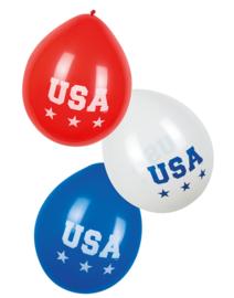 Ballonnen USA 25 cm 6 stuks