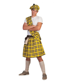 Highlander Yellow Kilt, Sash, halt,belt with purse size in one