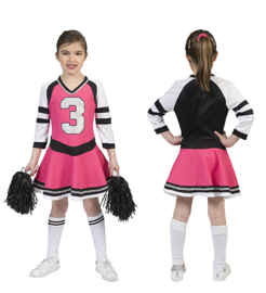 Cheerfull cheerlader girl dress maat 116