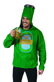 Beer  bottle Hoodie sweater with hood one size