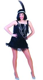 Charleston Fannie Fringe dress black maat 36/38