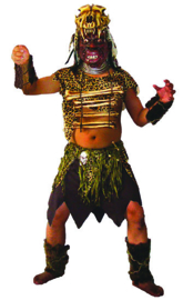 jungle Cannibal Top, shirt, mask, armpieces, boot covers one size