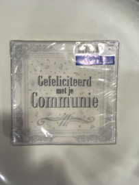 Gefeliciteerd met je communie servetten 20 stuks