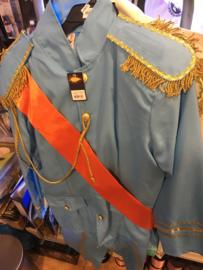 Koningsmantel bleu maat M
