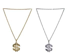 Halsketting Dollar teken goud