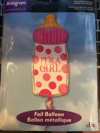 Baby girl Wordt geleverd zonder helium 58x 25 cm