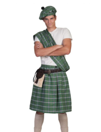 Highlander Green Kilt, Sash, halt,belt with purse size in one