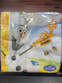 Olaf servetten 33x33cm 20 stuks