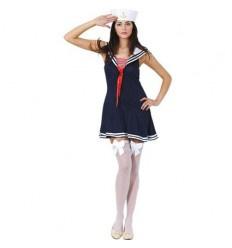 Marine vrouw Dress, Hat maat 42