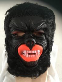 Aap zwart met rode mond