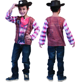 3 D Shirt cowboy Boy  T-SHIRT maat 3/4 jaar