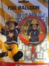 Brandweerman sam folie ballon 45 cm word geleverd zonder helium