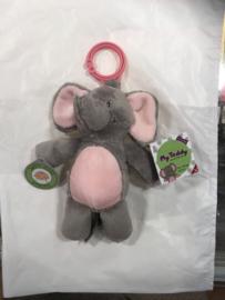 knuffel olifant rosé/ Grijs