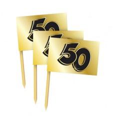 Prikker 50 jaar getrouwd, 50 stuks gouden bruidsdagen