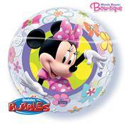 22 inch folie ballonbubble Minnie mouse wordt geleverd zonder helium