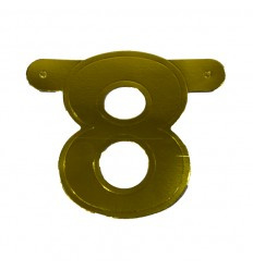 Banner cijfer 8 goud 1 pcs