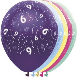 Ballonnen 6 jaar 5 stuks