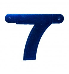 Banner cijfer 7 Blauw 1 pcs
