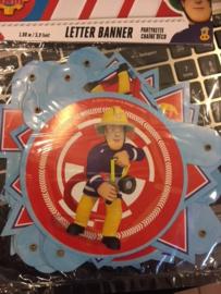Brandweer sam Letterbanner