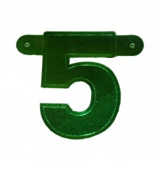 Banner cijfer 5 Groen 1 pcs