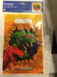 Dinosaur uitdeelzakjes 6 stuks