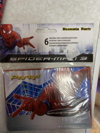 uitnodiging spiderman 6 stuks