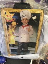 Big chef kok 7/9 jaar maat 128/140