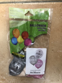 ballonnen ' ik vind je lief'