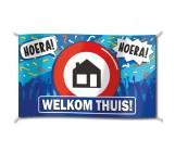 Gevelvlag Welkom thuis 150 cm x 90 cm