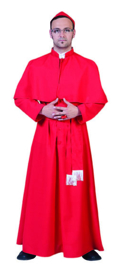 Cardinaal Gilberto robe with belt hat one size