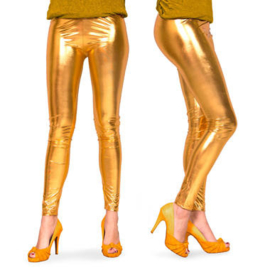 Legging Metalic goud maat L/XL