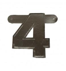 Banner cijfer 4 Zilver 1 pcs