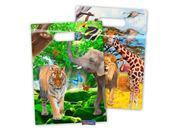 Safari uitnodiging zakjes 8 stuks