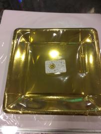Gouden bordjes 8 pcs