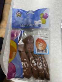Ballonnen 12.5 jaar getrouwd 8 stuks