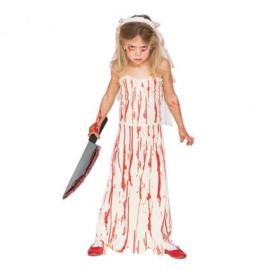 Bloody bride maat 10-12 jaar