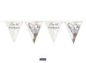 vlaggenlijn 10 meter Leve het bruidspaar
