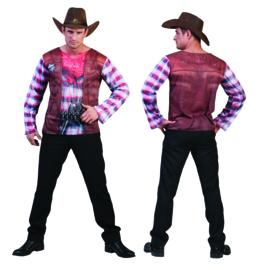 3 D Shirt cowboy Man T-SHIRT maat 52