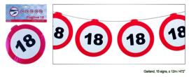 18 jaar verkeerslinger 12 meter 15 signs