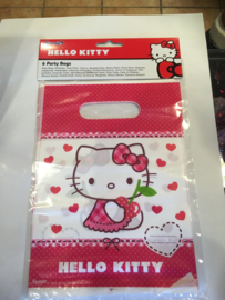 Hello kitty party bags 6 stuks