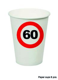 60 jaar: 8 paper cups