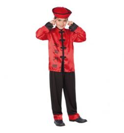 Chinees Hat, Shirt, pants leeftijd 4 tot 6 jaar