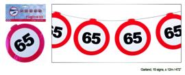 65 jaar verkeerslinger 12 meter 15 signs