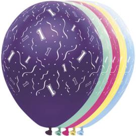 Ballonnen 1 jaar 5 stuks