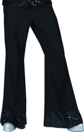 Black disco Trousers maat 48-50
