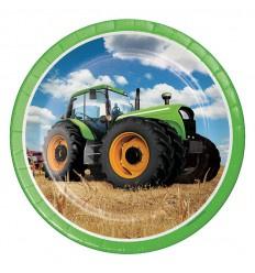 tractor bordjes 23 cm 8 stuks