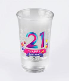 21 happy shot 6 stuks