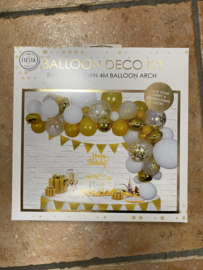 Deco pakket ballonnen goud